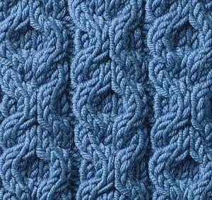 ściegi na drutach - ogniwa